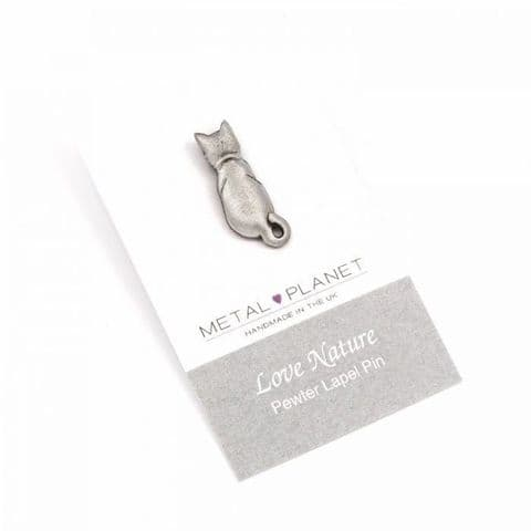 Cats Back - Pewter Jacket, Lapel or Coat Pin
